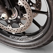 Front Wheel Decal, Grey V-Strom