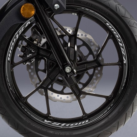 Rear Wheel Decal, Grey V-Strom picture